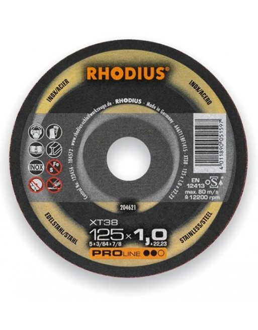 Rhodius skæreskive XT38 125x1,0