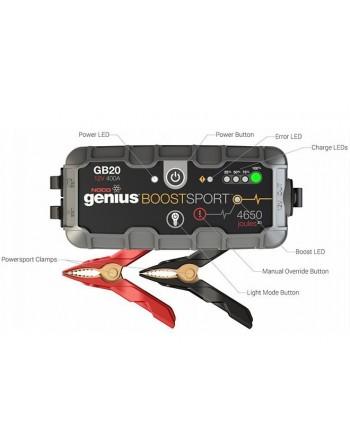 Noco Genius GB20 Boost Sport - Jump start til 12V blybatterier