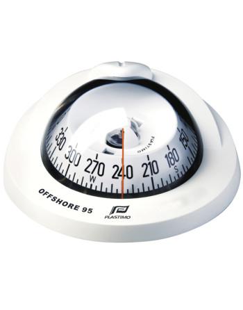 Plastimo offshore 75 flush kompas hvid 12v
