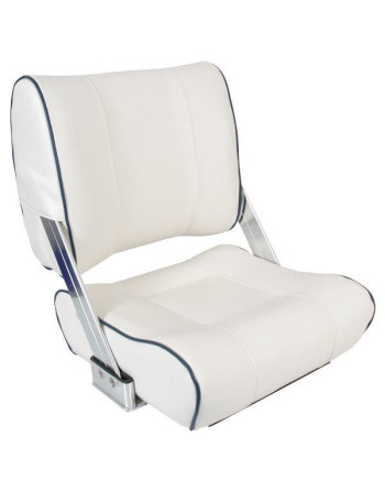 Esm styrestol st45 lux hvid med blå bredde 42cm