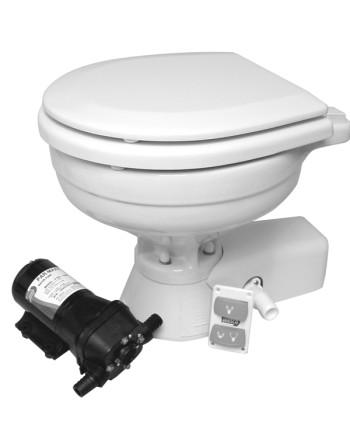 "Jabsco ""quiet flush"" compact el-toilet 24V saltvand"