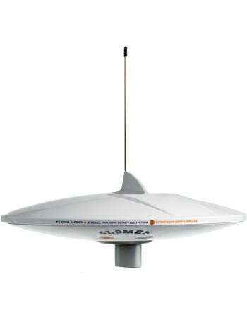 Glomex v9112agcu/dab tv antenne med dab ø37cm, 20m kabel 2tv