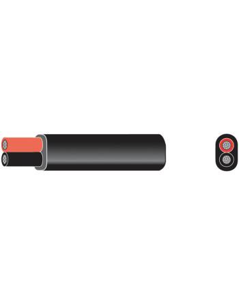 Oceanflex marinekabel fortinnet flad rød/sort 2x1.5mm2 100m