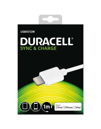 Duracell usb til lightning kabel, 1m (hvid)