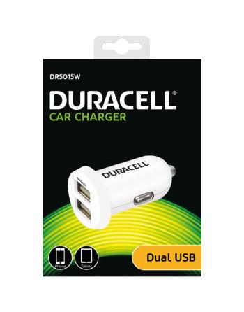Duracell 12/24v biloplader med 2 x usb, 1x1000ma + 1x2400ma